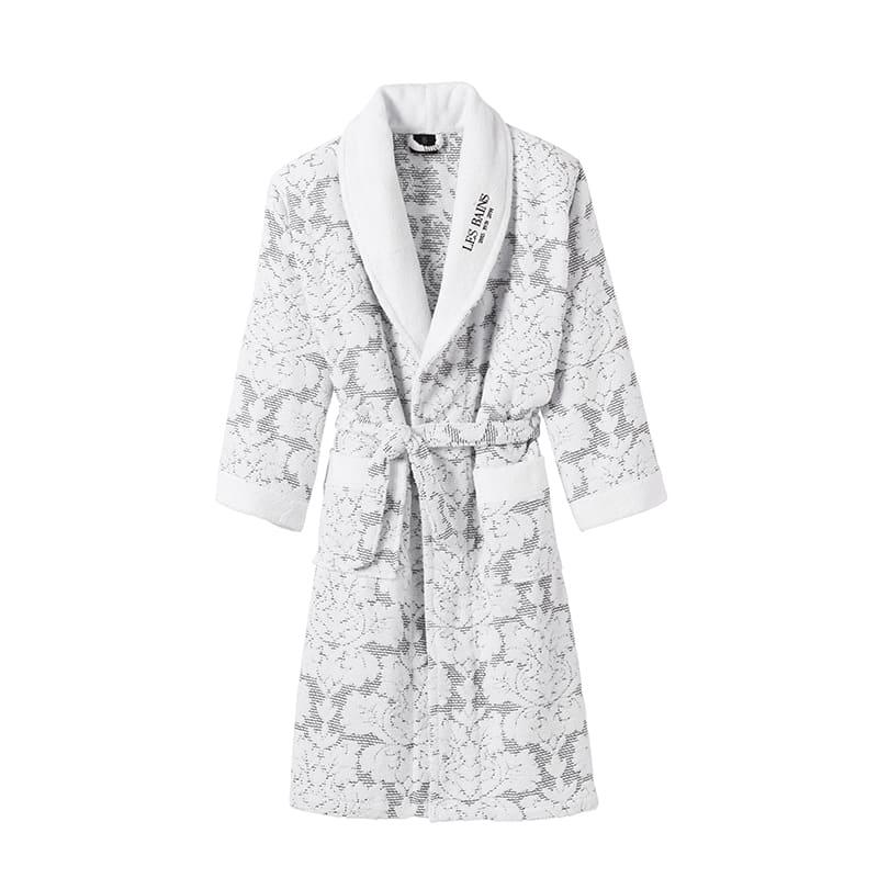 bathrobe les bains x descamps bathrobe kimono in quilted. Black Bedroom Furniture Sets. Home Design Ideas